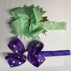 Other - Set of 6-12 month baby girl boutique bow headbands